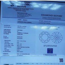 Joyeria: DIAMANTE 0.50 CT. CERTIFICADO IGI. D-IF. 3 EXCELENTES. FLUORESCENCIA MUY LEVE. Lote 131076359