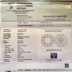 Joyeria: DIAMANTE 0.50 CT.D-IF. CERTIFICADO IGI. 3 EXCELENTES. FLUORESCENCIA MUY LEVE. Lote 131076368