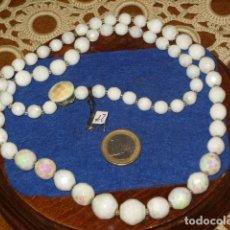 Joyeria: COLLAR LARGO DE CRISTAL FACETADO BLANCO ARCOIRIS.. Lote 131122856