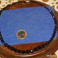 Joyeria: COLLAR DE CRISTAL FACETADO NEGRO,AÑOS 70.. Lote 131641194