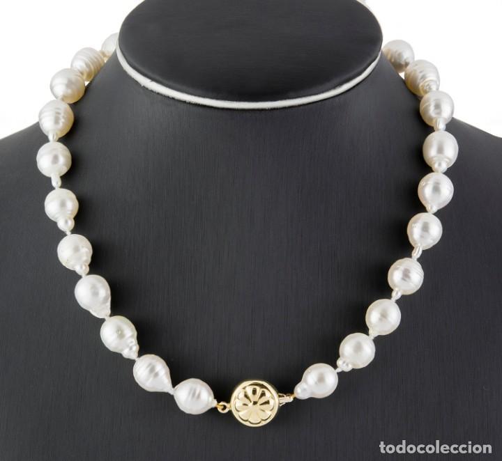 Joyeria: Collar de Oro con Perlas Australianas de los Mares del Sur - Foto 2 - 131884050