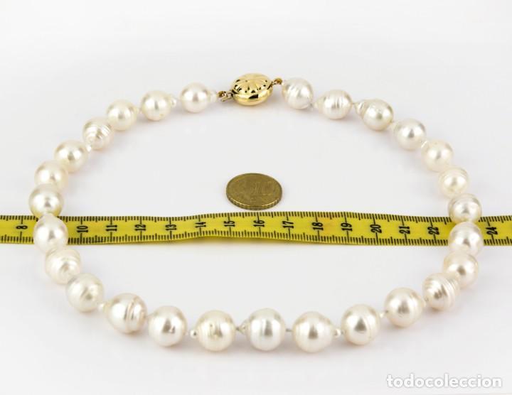Joyeria: Collar de Oro con Perlas Australianas de los Mares del Sur - Foto 3 - 131884050
