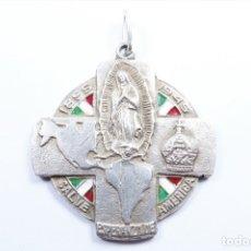 Joyeria: MEDALLA EN PLATA ANTIGUA, VIRGEN DE GUADALUPE, SALVE ESPERANZA DE AMERICA 1895-1945. Lote 49042365