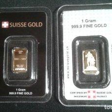 Joyeria: LINGOTE ORO PURO 1 GRAMO, FINE GOLD BAR 999.9 - 24 K . Lote 132349022