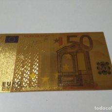 Joyeria: BILLETE ORO 50 EUROS 99,9% PURE GOLD 24K. Lote 132349050