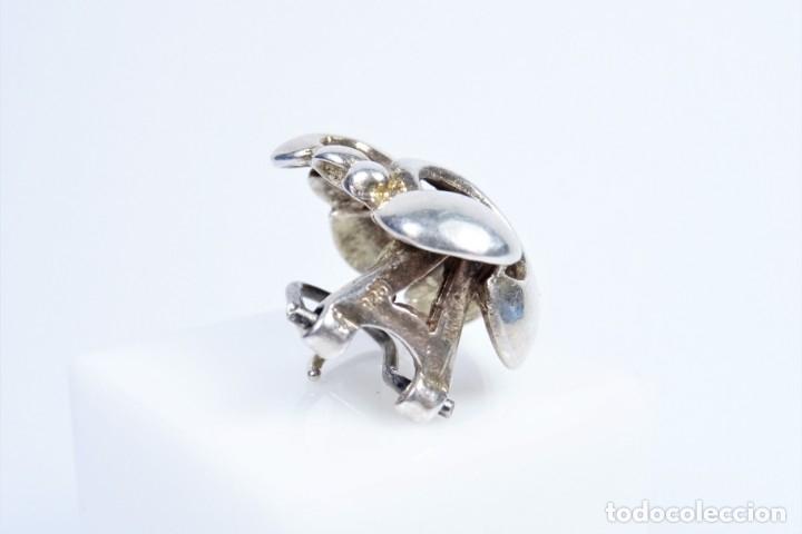 Joyeria: Antiguos pendientes en plata 925 con curiosa forma de lazo - Foto 5 - 49846762