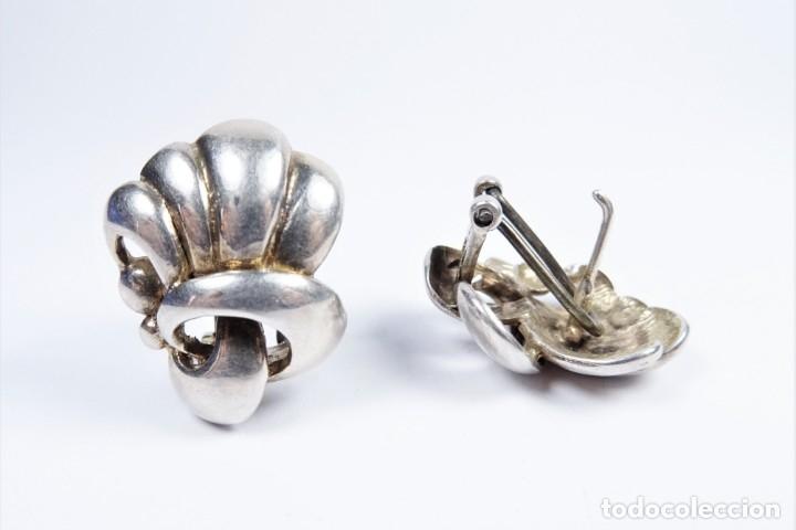 Joyeria: Antiguos pendientes en plata 925 con curiosa forma de lazo - Foto 3 - 49846762