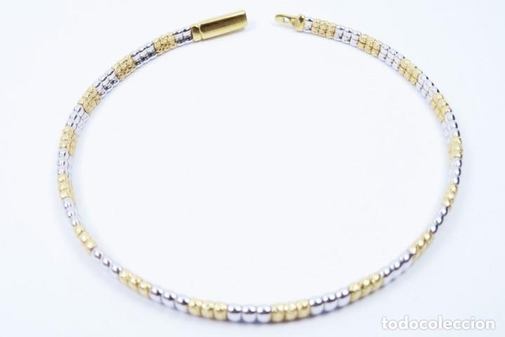 Joyeria: Elegante Pulsera semirrígida en oro de 18 quilates, combinada de oro blanco y oro amarillo - Foto 8 - 132480334
