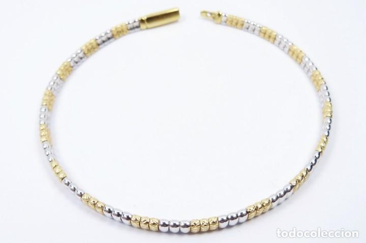Joyeria: Elegante Pulsera semirrígida en oro de 18 quilates, combinada de oro blanco y oro amarillo - Foto 7 - 132480334