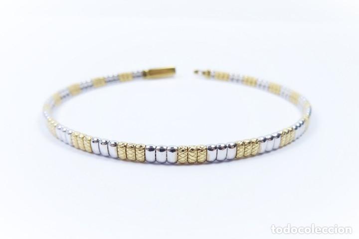 Joyeria: Elegante Pulsera semirrígida en oro de 18 quilates, combinada de oro blanco y oro amarillo - Foto 6 - 132480334