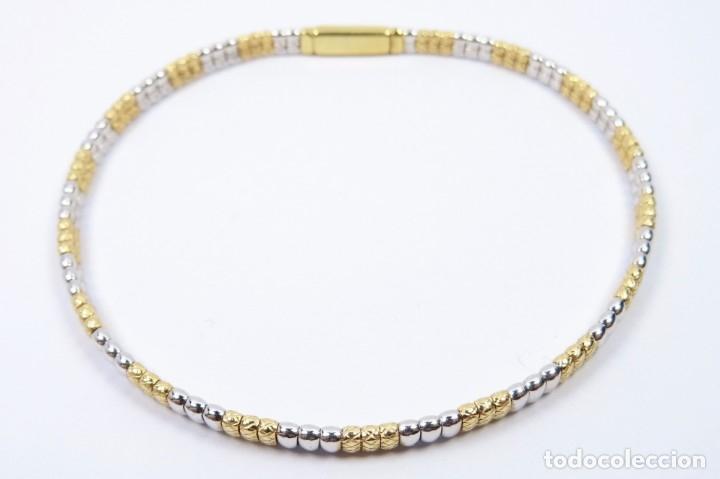Joyeria: Elegante Pulsera semirrígida en oro de 18 quilates, combinada de oro blanco y oro amarillo - Foto 3 - 132480334