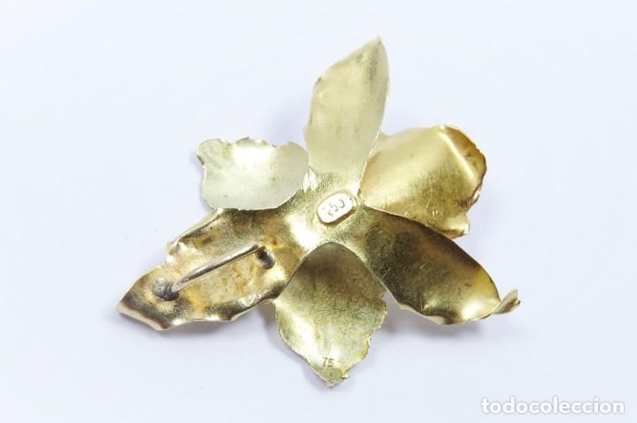 Joyeria: Colgante oro 18 quilates, combinado de oro amarillo y oro rosa en forma de hojas con perla cultivada - Foto 5 - 132482786