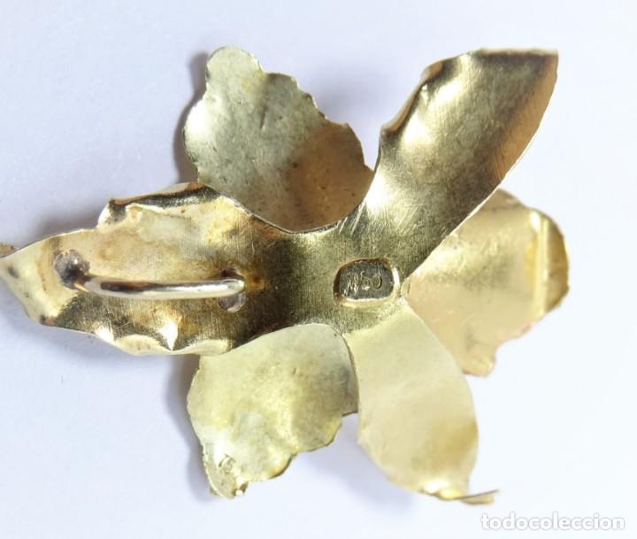 Joyeria: Colgante oro 18 quilates, combinado de oro amarillo y oro rosa en forma de hojas con perla cultivada - Foto 6 - 132482786