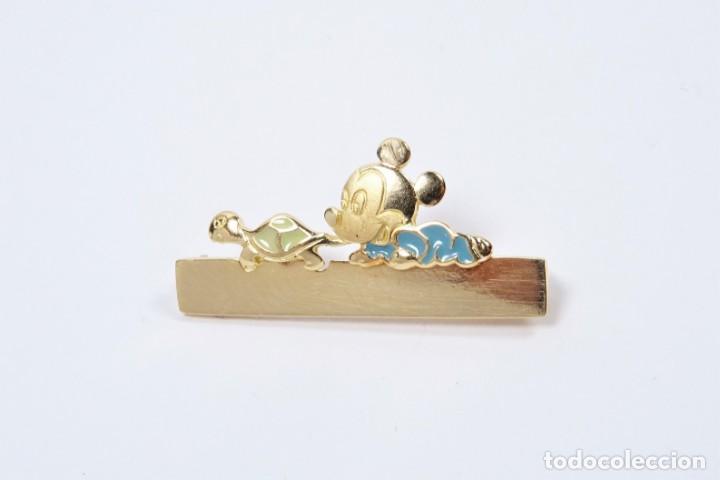 Joyeria: Broche para bebe en oro de 18 quilates, original Disney para grabar nombre - Foto 3 - 132488202