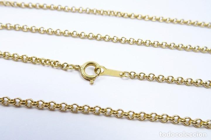 Joyeria: Cadena en oro amarillo de 18 quilates eslabón roló 60cm - Foto 4 - 173737400