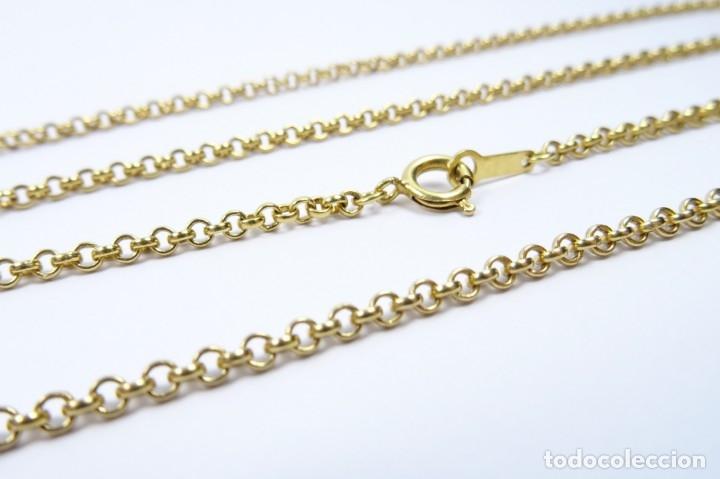 Joyeria: Cadena en oro amarillo de 18 quilates eslabón roló 60cm - Foto 5 - 173737400