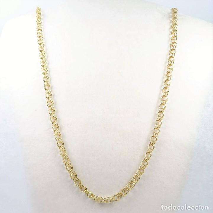 b24c5a26fccc Cadena collar en oro amarillo de 18 quilates eslabón húngaro