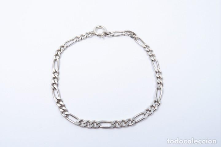 Joyeria: Pulsera en plata 925 de eslabones tipo cartier - Foto 2 - 132650398