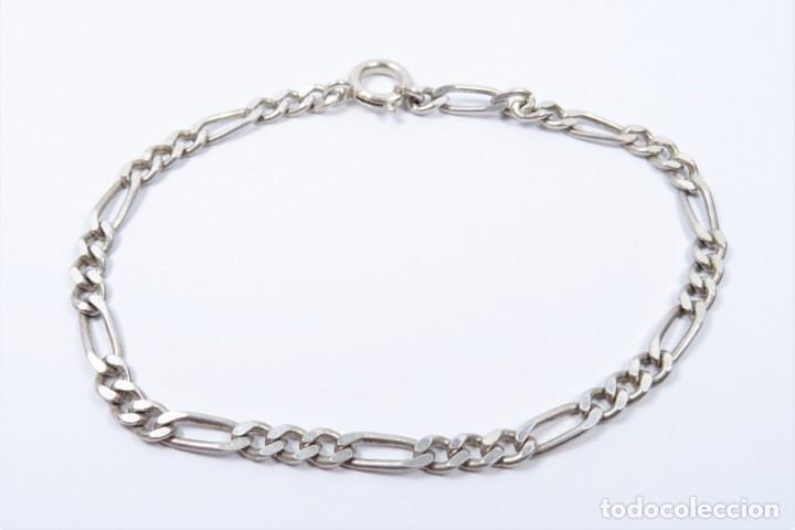 Joyeria: Pulsera en plata 925 de eslabones tipo cartier - Foto 3 - 132650398