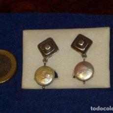 Joyeria: PENDIENTES DE PLATA CON PERLA,AÑOS 70.. Lote 132824698