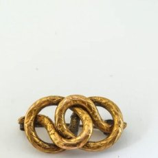 Joyeria: ANTIGUO BROCHE SERPIENTE 9-14K. Lote 133190018