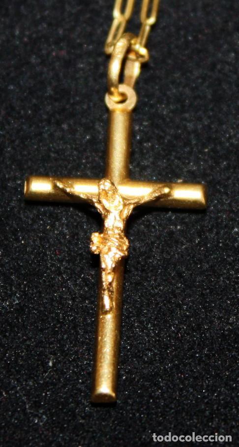 Jewelry: CRISTO EN LA CRUZ CON CADENA,DE ORO DE 18 KL. - Foto 2 - 142695760