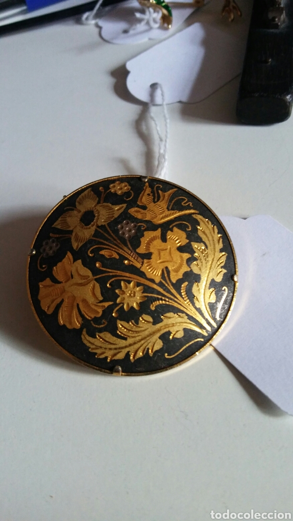 Joyeria: Broche Toledo - damasquinado - oro de Toledo - Foto 2 - 133379683
