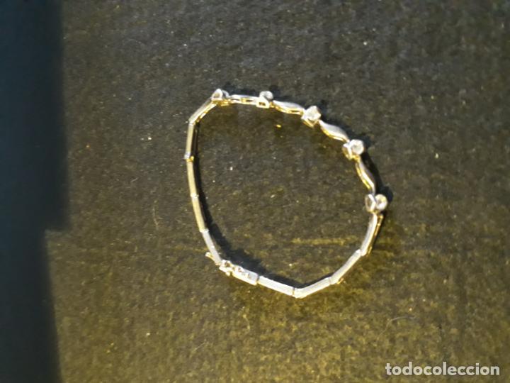 95a523bba pulsera de plata con 5 circonitas. 17 cm y 5