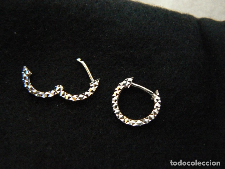 Pendientes Aro De Oro Blanco De 18 Kilates Gara Sold Through Direct Sale 132615862