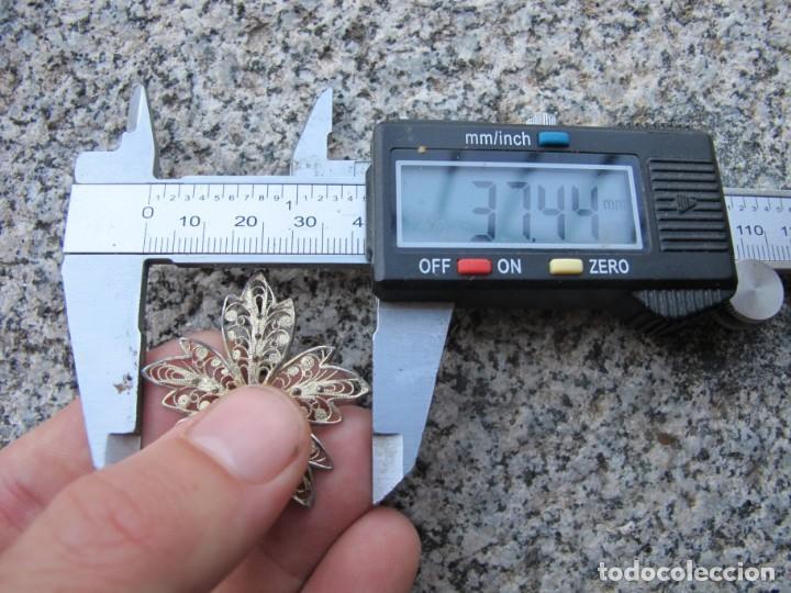 Joyeria: Broche de filigrana de plata de ley con cabujón de coral mediterraneo - Foto 9 - 193069365