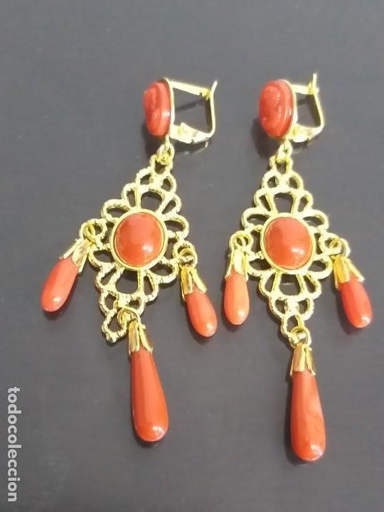 Joyeria: Juegos pendientes Largos con (Camafeos Todo Coral auténticos) - Foto 3 - 135176694