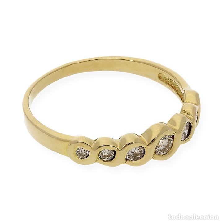 Joyeria: Anillo Diamantes y Oro de Ley 18k - Foto 7 - 172570868