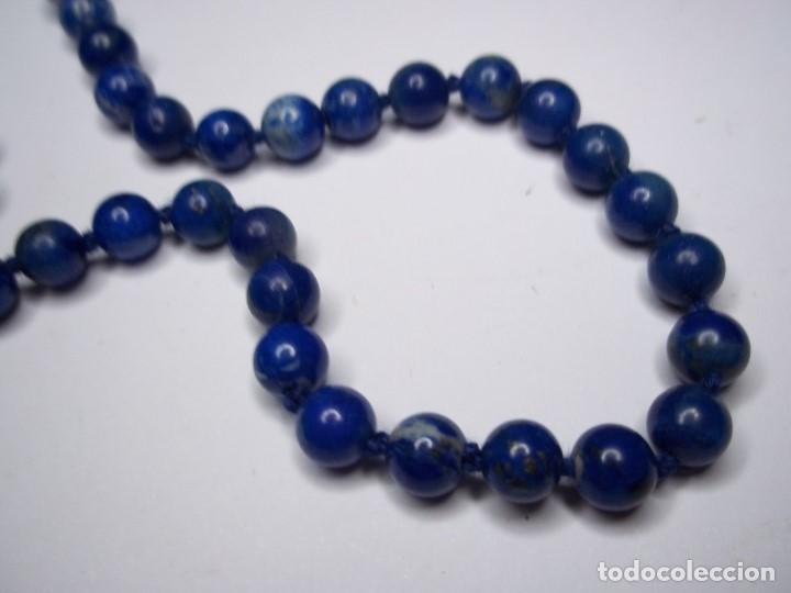 Joyeria: Vintage. Collar de lapislazuli. Falta colgante central. Usado. Buen estado. ENVIO GRATIS. - Foto 2 - 135450202