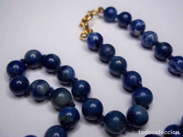 Joyeria: Vintage. Collar de lapislazuli. Falta colgante central. Usado. Buen estado. ENVIO GRATIS. - Foto 3 - 135450202