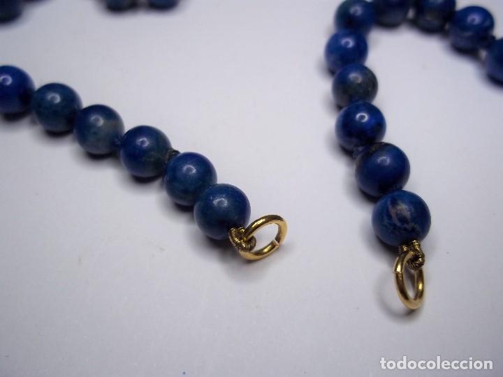 Joyeria: Vintage. Collar de lapislazuli. Falta colgante central. Usado. Buen estado. ENVIO GRATIS. - Foto 4 - 135450202