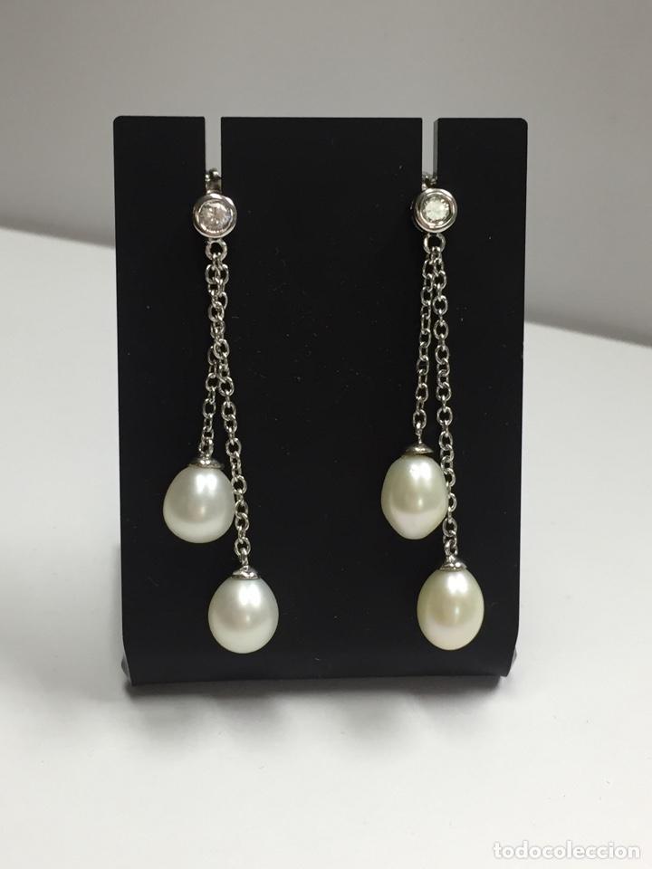 Joyeria: Pendientes plata con perlas y circonitas - Foto 2 - 136461014