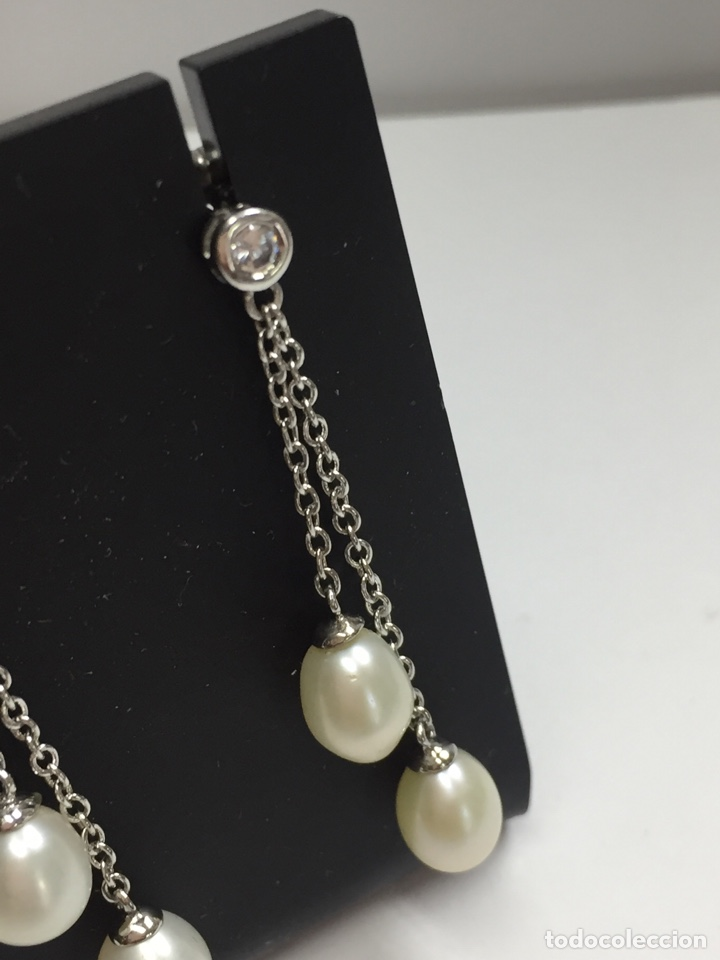 Joyeria: Pendientes plata con perlas y circonitas - Foto 4 - 136461014