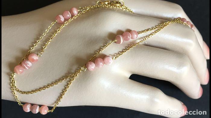 Joyeria: collar de oro de 18Kt y Rodocrositas. - Foto 5 - 100423535