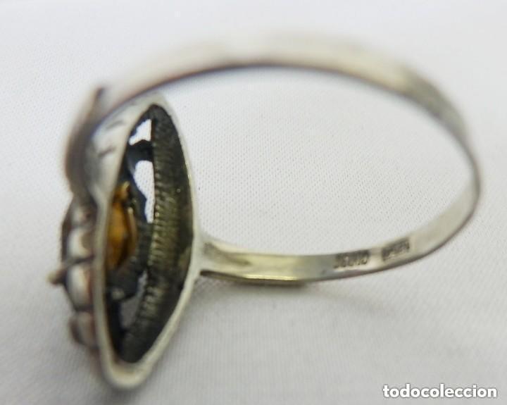Joyeria: Precioso anillo antiguo en plata de Ley, anillo lanzadera. - Foto 3 - 137410386