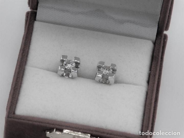Joyeria: PRECIOSAS DORMILONAS ORO BLANCO 18K Y DIAMANTES 0,45CT - Foto 3 - 137558098