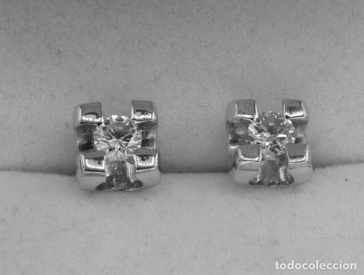 Joyeria: PRECIOSAS DORMILONAS ORO BLANCO 18K Y DIAMANTES 0,45CT - Foto 4 - 137558098