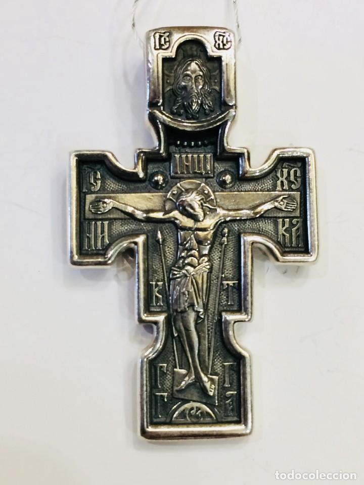 CRUZ DE PLATA 925, ARCANGEL MICHAEL (Joyería - Colgantes Antiguos)