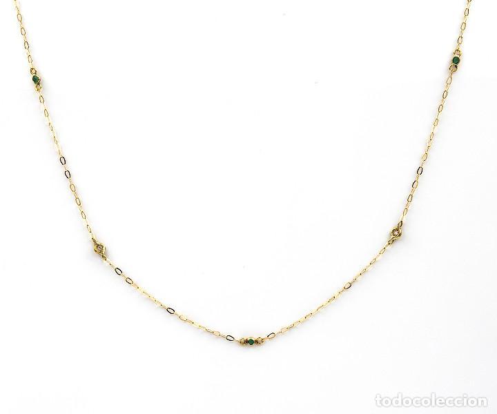 Joyeria: Collar Diamantes y Esmeraldas en Oro de Ley 18k - Foto 2 - 137797050