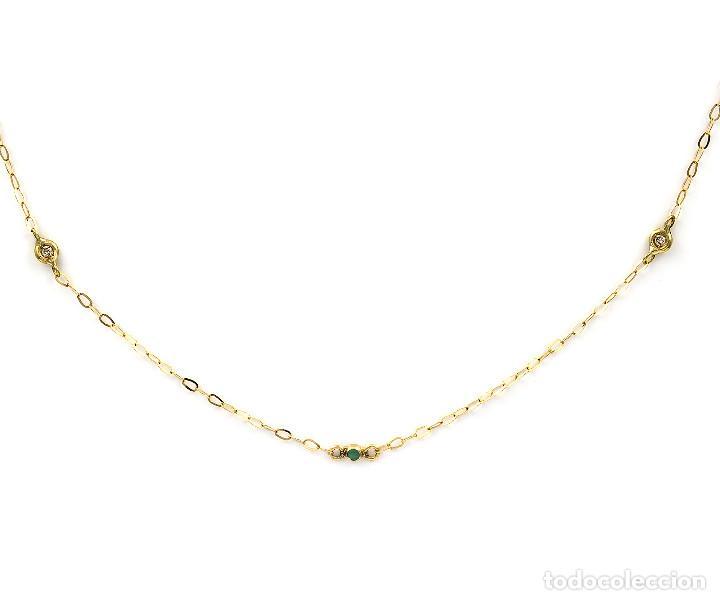 Joyeria: Collar Diamantes y Esmeraldas en Oro de Ley 18k - Foto 3 - 137797050