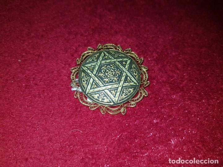 Joyeria: Antiguo broche damasquino de toledo hilo de oro,hecho a mano - Foto 4 - 137984366