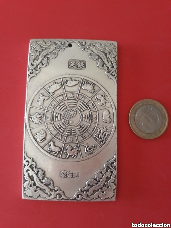 Joyeria: ANTIGUO LINGOTE PLATA TIBETANA CON DOS DRAGONES - Foto 2 - 138002277