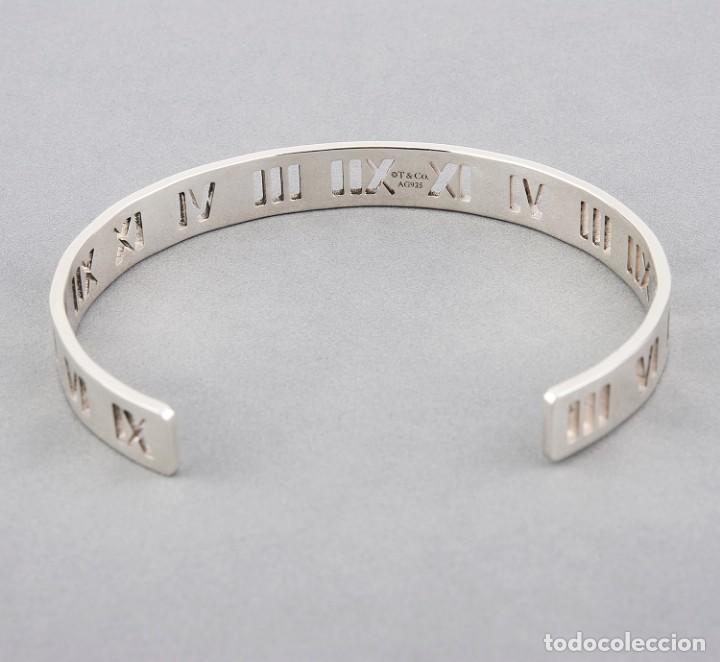 Joyeria: Brazalete Estilo Tiffany & Co de Media Caña Rígido de Plata de Ley con Motivos de Números Romanos - Foto 5 - 159336772