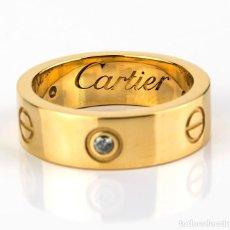 Joyeria: ANILLO ESTILO CARTIER LOVE DE DIAMANTES Y ORO DE LEY 18K. Lote 138219418