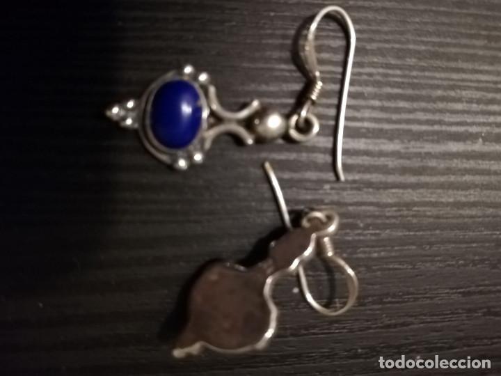 Joyeria: Lote de pendientes de plata 925 con piedras naturales - Foto 5 - 138696418