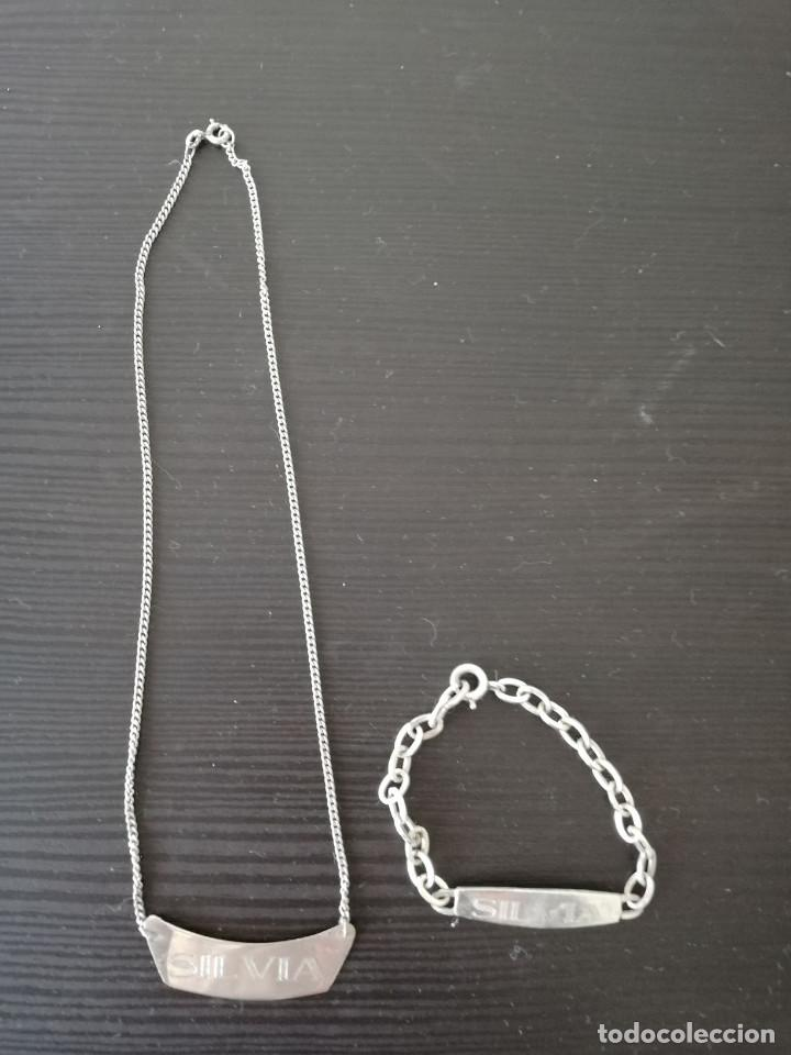 Joyeria: Lote de pulsera y collar de plata de 925 - Foto 2 - 138714210